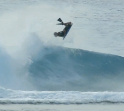 Ben Mackinnon bodyboarding
