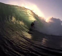 Bodyboarding reefbreak