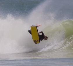 Steph Kokorelis bodyboarding