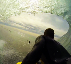 Joe Clarke bodyboarding
