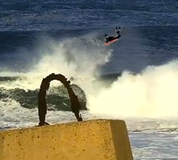 tow out bodyboarding