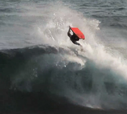 Damien Martin bodyboarding