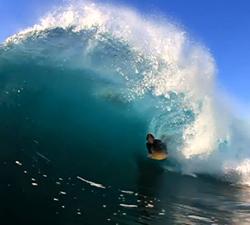 Nathan Spruce bodyboarding