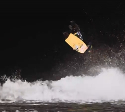 night bodyboarding