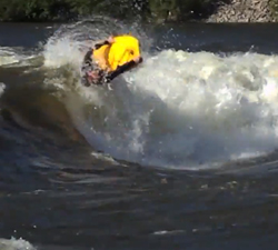 norway river surfing