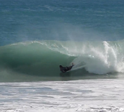 barrel bodyboarding