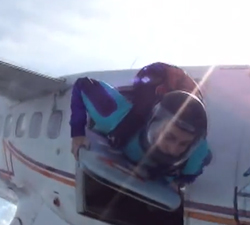 Skydiving with a Bodyboard