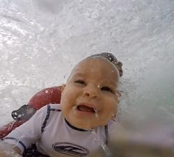 baby bodyboarding