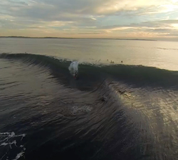 bodyboarding drone footage