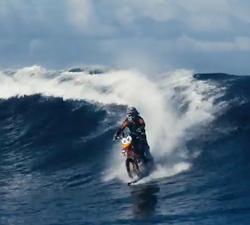 motorbike surfing tahiti