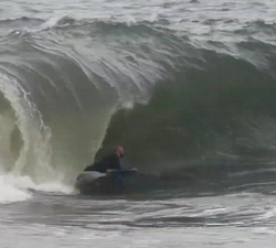 bodyboard the rock