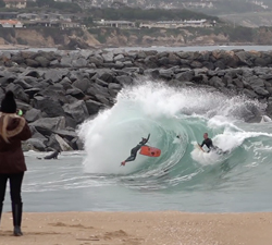 bodyboard wipeout